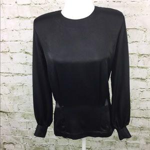Liz Claiborne Collection Black Long Sleeve Top